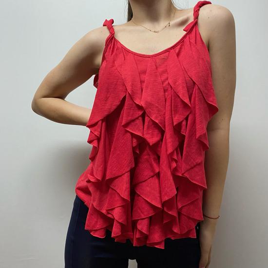 Zenska Crvena Majica sa Karnerima