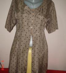 C&A vintage polka dot kardigan S/M svila 100%