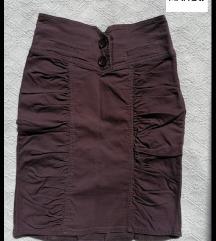MANGO pamucna suknja do kolena