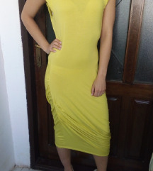 Nova Asos zuta haljina S
