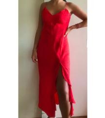Zarina crvena slip (satinirana) haljina