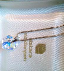 Srebrna sajlica 925, Swarovski Crystal, NOVO