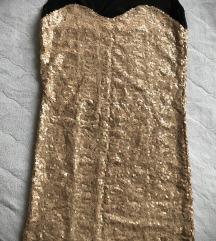 Pimkie haljina sa zlatnim šljokicama