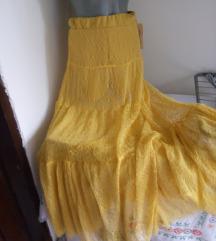 Nova Fashion zuta suknja sorc S/M