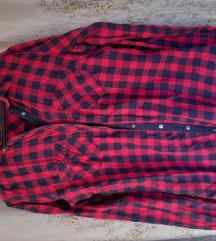Košulja crveno teget plava na zakopčavanje