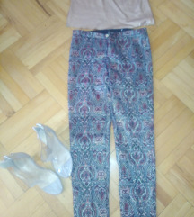 Zara brokat pantalone
