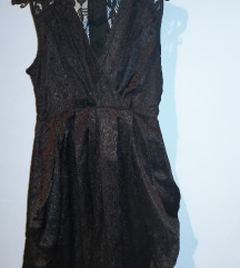 Svecana crna HM haljina sa cipkicom