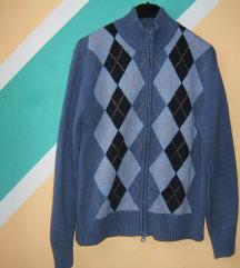 Pamučni džemper polurolka kopčanje