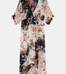 Zara ruffle floral print haljina NOVO