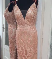 Kajsija haljina midi