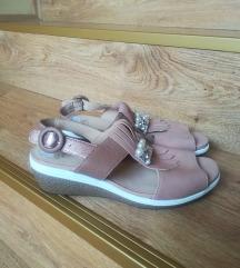 ARA puder roze sandale Kozne NOVO
