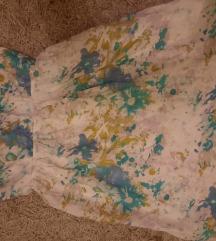 Zenska haljina croptop cvetna