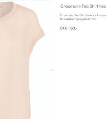 GRAUMANN skupocena BAGGY majica, SVILA 100%, S/M