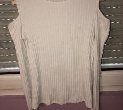 Bela majica sa otvorenim ramenima