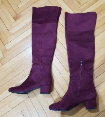 Bordo cizme preko kolena SAMO 1299 din