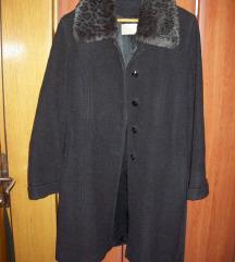 Crni kaput 75% vuna/5% kasmir