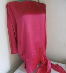 Pink svilena tunika S/M