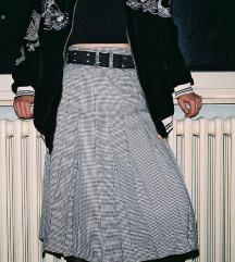 unikatna vintage midi plise suknja
