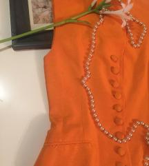 Narandžasti elegantan prsluk/sako 36