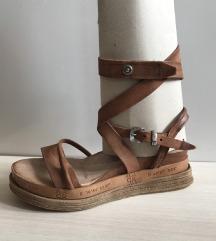 Airstep A.S.98 braon kožne sandale sa kaiševima