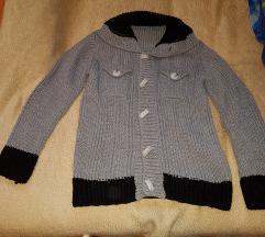 Deblji džemper-jaknica