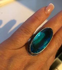 prsten plavi TOPAZ