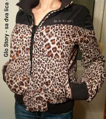 Glo Story jakna sa dva lica - animal print M