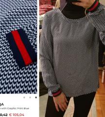 ROQA - 100% cupro bluza vrh materijal