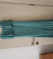 Zara končana metalik haljina