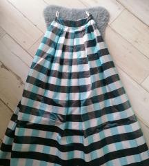 Brutalna suknja duga aktuelni model visok struk s