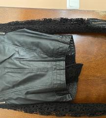 Kozna jakna sa cipkom