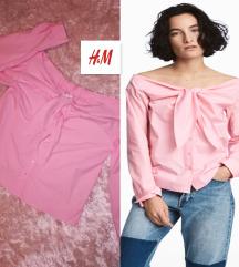 Moderna H&M košulja sa off-shoulder i mašnom