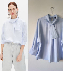ZARA, nova oversized plava bluza sa masnom