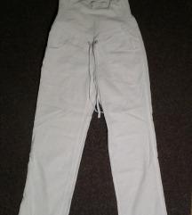 H&M mama trudnicke lanene ravne pantalone,S/M.