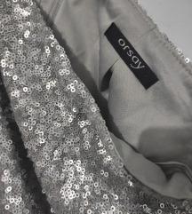 Orsay suknja od krljušti, srebrna, Novo, sniženje