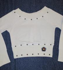 Krem crop džemperić