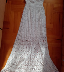 Bela dugacka haljina*sniženo*