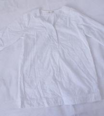 InTown fantasticna bela tunika od reljefnog platna