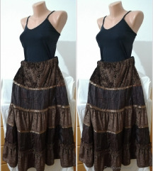 2.7. Braon XL suknja