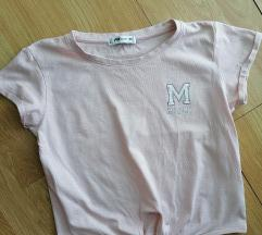 FB Sister svetlo roze majica na vezivanje XS