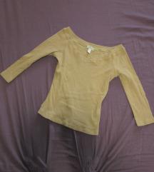 27. Pamučna majica bež, V izrez, rebrasta