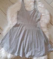 Siva haljinica medena s