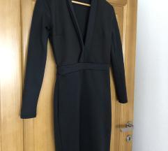 Crna elegantna haljina do kolena