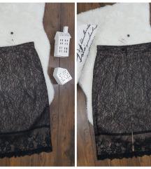 ZARA * S * suknja svila cipka NOVO