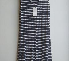 Prugasta pamucna haljina Novo