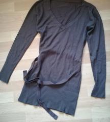 Braon džemper - V izrez