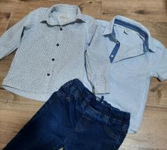 Dve košulje i farmerke za decaka