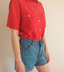 Crvena svilena košulja DANAS 850 DINARA