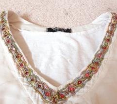 Nezno roze paperjasta bluzica majica