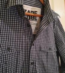 Pamučna teget karirana košulja - muška